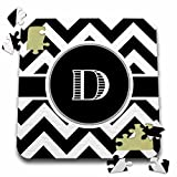 BrooklynMeme Designs - Black and white chevron monogram initial D - 10x10 Inch Puzzle (pzl_222066_2)