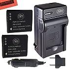BM Premium Pack of 2 LI-90B, LI-92B Batteries & Charger for Olympus Tough SH-1, SH-2, SP-100, SP-100 IHS, SP-100EE, Tough TG-1 iHS, Tough TG-2 iHS, Tough TG-3, Tough TG-4, SH-50 iHS, SH-60, XZ-2 iHS Digital Camera