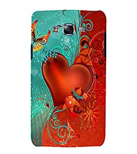 printtech Heart Love Abstract Back Case Cover for Samsung Galaxy J5 / Samsung Galaxy J5 J500F