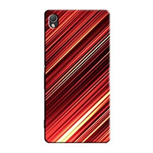 ABSTRACT RED SHADE BACK COVER FOR SONY XPERIA Z2