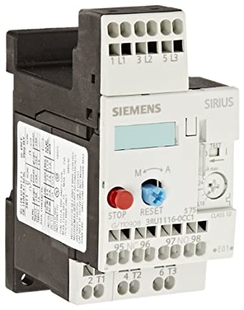 Siemens 3RU11 16-0CC1 Thermal Overload Relay, For Separate Installation, Size S00, 0.18-0.25A Setting Range