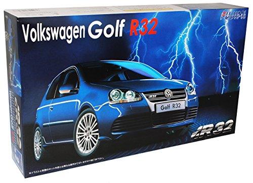 VW-Volkswagen-Golf-V-5-R32-R-32-3-Trer-Blau-Bausatz-Kit-124-Fujimi-Modellauto-Modell-Auto