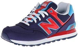 New Balance Men's ML574 Passport Running Shoe,Blue/Red,10 D US