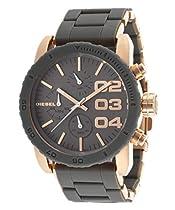Mens Watch Diesel DZ4245 Stainless Steel Case Black Dial Chronograph Brown Leat