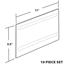 Azar 122022 11-Inch W by 8-1/2-Inch H Wall U-Frame with Adhesive Tape, 10-Piece Set