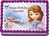 1/4 Sheet ~ Disney Sofia The Finest Birthday ~ Edible Image Cake/Cupcake Topper!!!