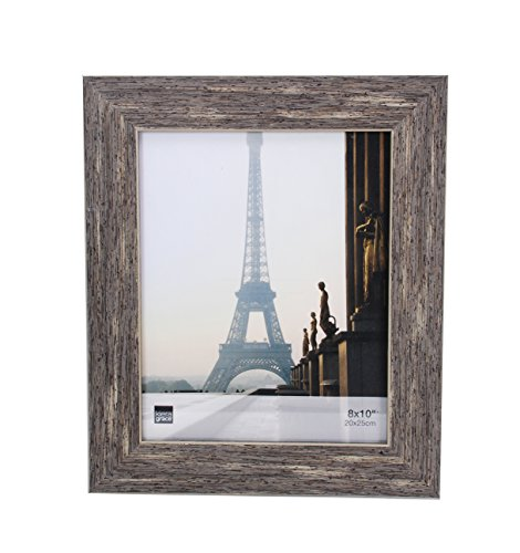 Kiera Grace Emery Picture Frame, 8 by 10 Inch, Weathered Grey Reclaimed Wood Finish (8x10 Wood Picture Frame compare prices)