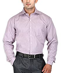 SPEAK Coffee Checks Cotton Formal Men's Shirt