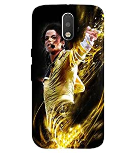 Chiraiyaa Designer Printed Premium Back Cover Case for Moto G4 Plus (michael jackson dance sing perform) (Multicolor)