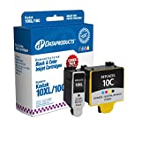 Dataproducts Kodak Remanufactured #10BXL/10C Black High Yield & Tri-Color Ink Cartridge Combo Pack - DPC10CP