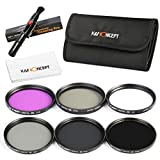 K&F Concept 67mm 6pcs UV CPL FLD ND2 ND4 ND8 Lens Accessory Filter Kit UV Protector Circular Polarizing Filter Neutral Density Filter for Canon 7D 700D 600D 70D 60D 650D 550D for Nikon D7100 D80 D90 D7000 D5200 D3200 D5100 D3200 D5300 DSLR Cameras + Micr