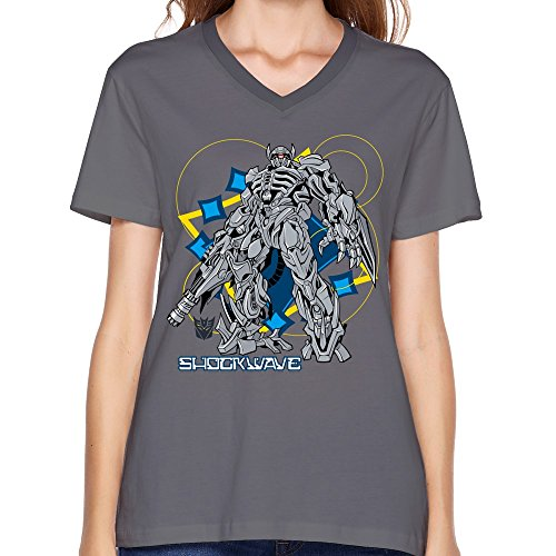 Qincent Printed Online Womens V-neck Short Sleeve T-shirt/Transformers
