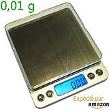 Balance de précision Pro 0.01g Max 500g - Taille XL - avec 2 plateaux de pesée