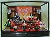 【新作雛人形】【ケース飾り雛人形】三五五人飾りケース付き雛人形【5人飾りひな人形】k35-5