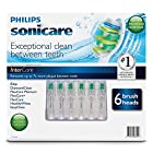 Philips Sonicare InterCare Replacement Brush Heads - 6 pack (Fit DiamondClean, FlexCare Platinum, FlexCare+, FlexCare, HealthyWhite, EasyClean)