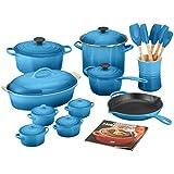 Le Creuset MM14AM24-59 24-Piece Cookware Set, Marseille