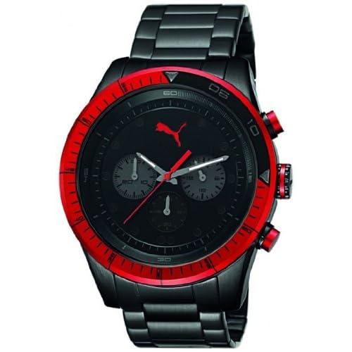 プーマ Puma Men's メンズ 男性用 Fast Track PU102821005 Black Stainless-Steel Quartz Watch 時計 腕時計 [並行輸入品]