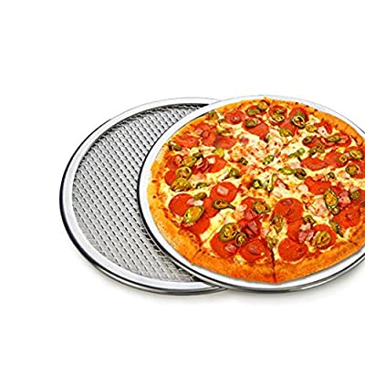 OUMOSI Seamless Rim Aluminium Mesh Pizza Screen Baking Tray Pizza Holder Screen Net Cookware Bakeware Baking Tool Pizza Tool