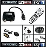 Sky4Less io box 20m Global Magic Eye Package, Sky HD Remote Control, Global Sky Magic Eye, iO-Box tv Link, 20M Cable For Viewing Sky In Another Room