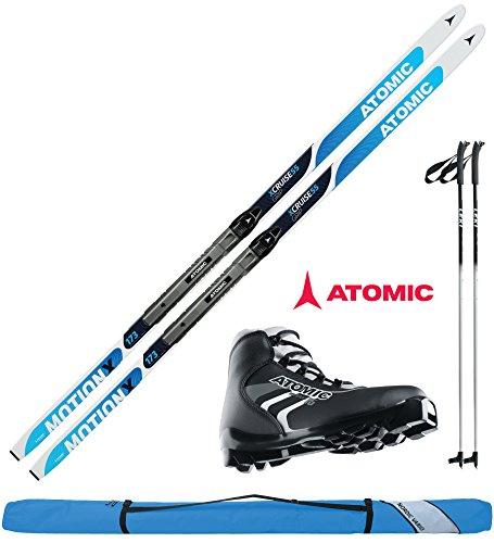 Atomic Langlaufski-Set XCRUISE 55 in 193cm + Bindung + Schuhe + Stöcke + Skisack 16/17