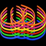 Lumistick 22 Inch Twister Glow Light Stick Assorted Necklaces (25 Necklaces)