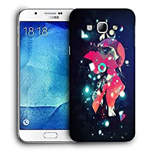 Snoogg Street Lights Printed Protective Phone Back Case Cover For Samsung Galaxy A8