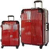 スーツケース 旅行かばん キャリーバッグ TSAロック搭載 フレーム開閉 白虎 (小型、S、20, ワインレッド)