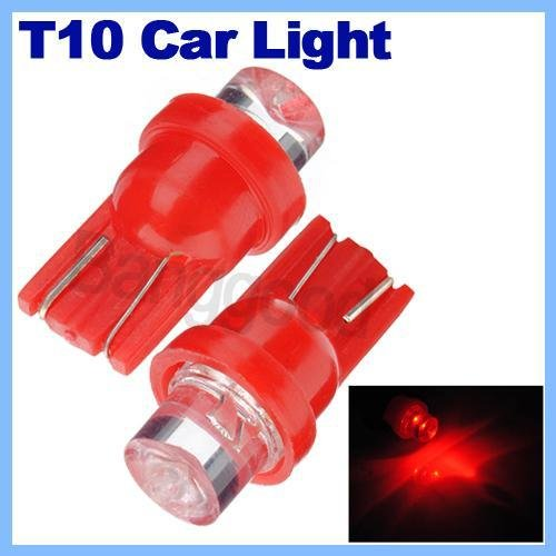 2X Ampoules W5W T10 194 168 Led Rouge Veilleuse Plafonnier Plaque Dome Habitacle