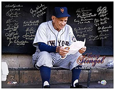 "1962 New York Mets Autographed 16"" x 20"" Photograph 1st Mets Manager Tribute with 21 Signatures - Fanatics Authentic Certified"