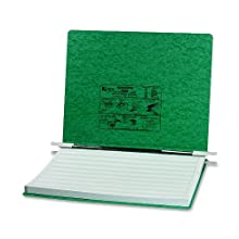 ACCO Pressboard Hanging Data Binder, Unburst Sheets, 14.875 x 11 Inches, Dark Green (54076)