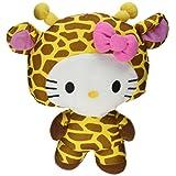 "Large 10"" Giraffe Hello Kitty Big Top Circus Animal Plush Doll"