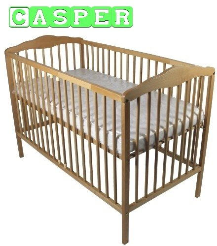 NEW BABY CHILD CLASSIC WOOD COT BED & ECO FOAM COTBED MATTRESS CASPER 60x120