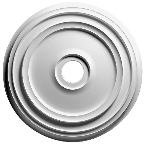 Focal Point 83018 18-Inch Rotunda Medallion 18 5/8-Inch by 18 5/8-Inch by 1 1/8-Inch, Primed White