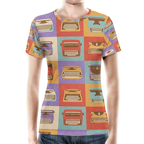 Retro Typewriters Women Cotton Blend
