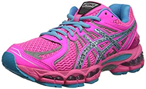 ASICS Women's Gel-Nimbus 15 Running Shoe,Hot Pink/Lightning/Blue,8.5 M US