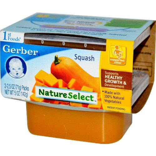Gerber, 1st Foods, NatureSelect, Squash, No Added Sugar, 2 Packs, 2.5 oz (71 g) Each