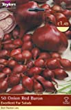 HIGH QUALITY ONION SET - Red Baron (50 in Pack) - Excellent For Salads