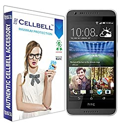 Cellbell Premium HTC Desire 620 (Clear) Tempered Glass Screen Protector (Comes with Warranty,User guide,Complimentary Prep cloth)-Bronze Edition