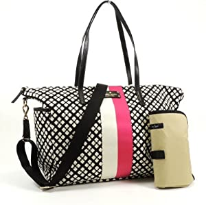 Kate Spade Classic Spade Adaira Baby Bag in Black & Cream by Kate Spade from Kate Spade