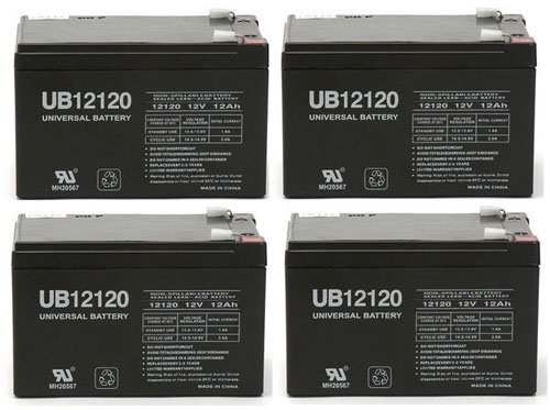 12V 12Ah F2 Sla Battery For Trac T10108 Anchor Winch + 4 Pack