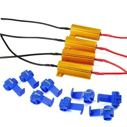 4Pcs Universal For Car Motorbike Signal Led Light Lamp 12V 50W 6-Ohm Load Resistor Auto Motorcycle Led Bulbs Kits New