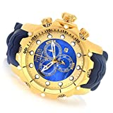 Invicta Men's 'Venom' Swiss Quartz Stainless Steel and Silicone Casual Watch, Color:Blue (Model: 20402)