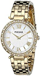 Pulsar Women's PM2126 Gold-Tone Stainless Steel Watch