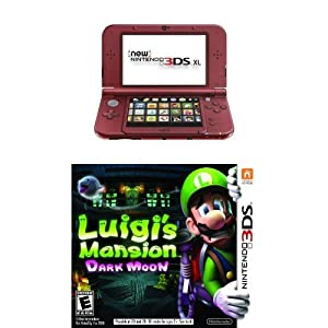 Nintendo 3DS XL Red with Luigi's Mansion by Nintendo