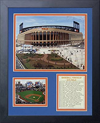 """Legends Never Die """"New York Mets Citi Field Outside"""" Framed Photo Collage, 11 x 14-Inch"""