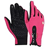 Wenseny - Men s Winter Outdoor Cycling Glove Touchscreen Gloves for Smart Phone pink-M