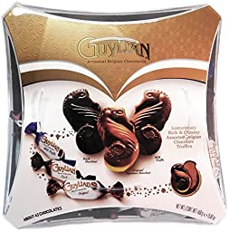 Guylian Artisanal Belgian Chocolates Assortment Seahorse Chocolates Milk Truffle, Original Signature Hazel Nut, Dark Hazelnut 15.87 Ounce Box