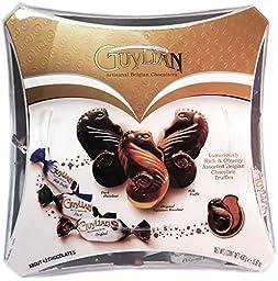 Guylian Artisanal Belgian Chocolates Assortment Seahorse Chocolates Milk Truffle, Original Signature Hazel Nut, Dark Hazelnut 15.87 Ounce Box