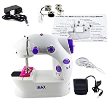Imax LSS-202 Mini 2-Speed Sewing Machine with Foot Pedal, Purple 	 Imax LSS-202 Mini 2-Speed Sewing Machine with Foot Pedal, Purple
