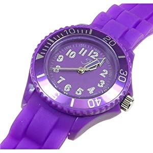 Girls/Boys Reflex Silicon Rubber strap Watch Purple Children's size